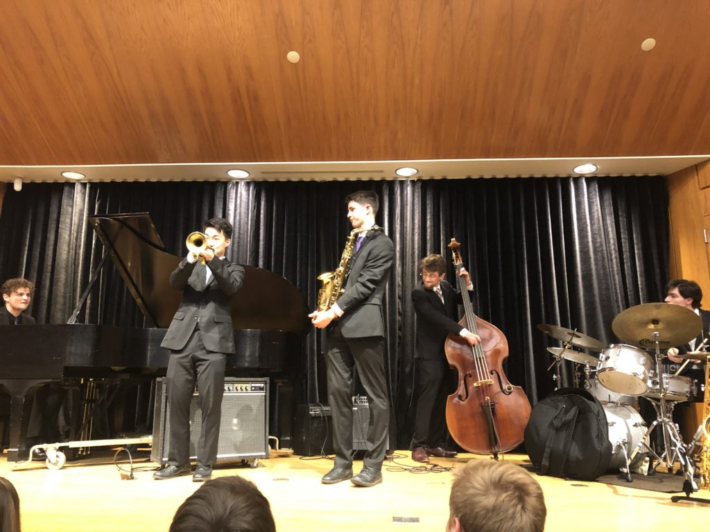 Community High School's Jazz Combo Unified Field Theory performing