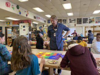 Jason Treece teaches art at Slauson Middle School