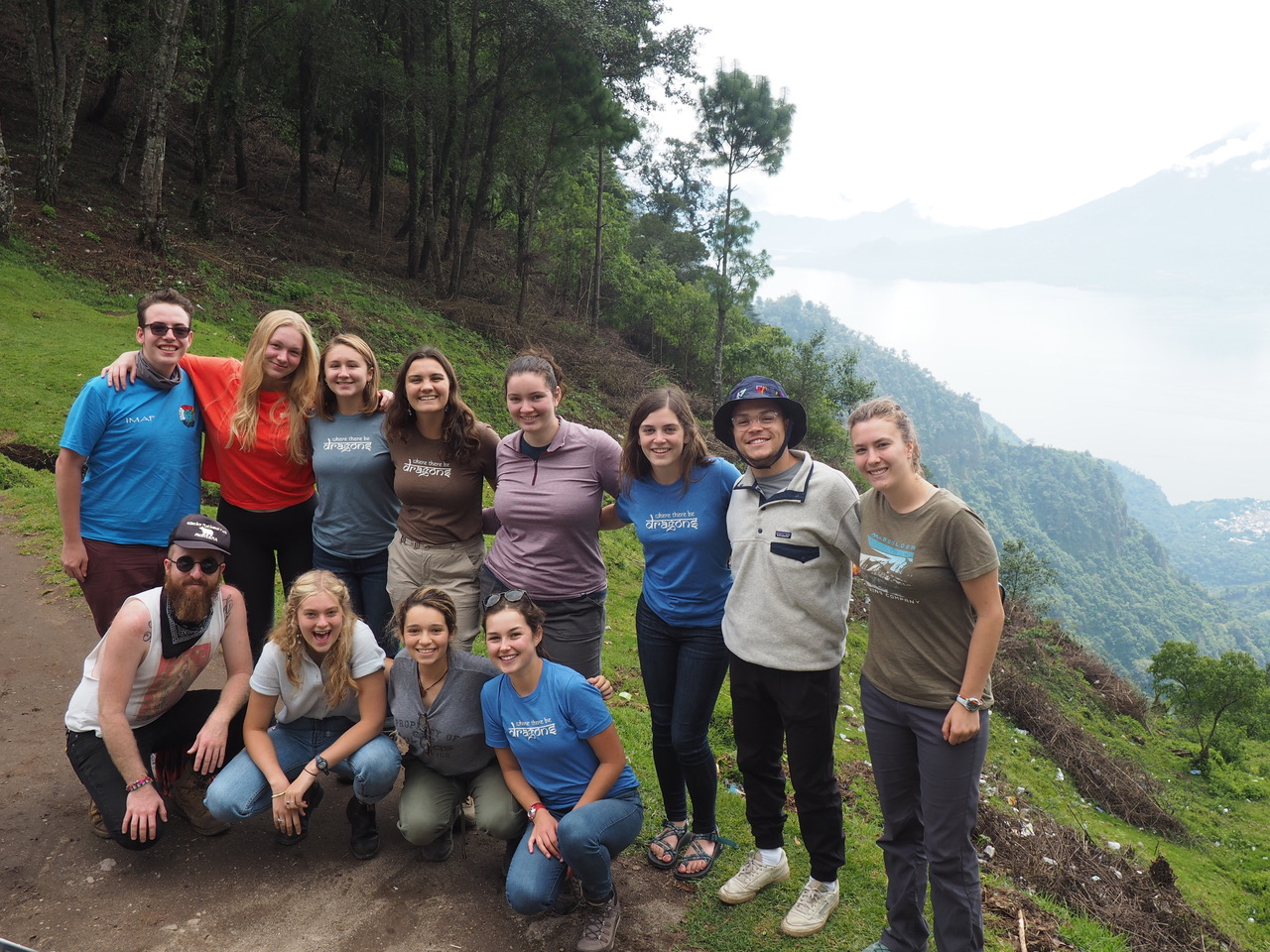 Jordan Tirico with student group in Guatemala