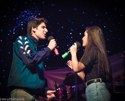 "Community High Senior, Etai Smotrich-Barr, sings ""Every Breath You Take"" with Community High Senior, Katelyn Miller at FutureStars 2019."