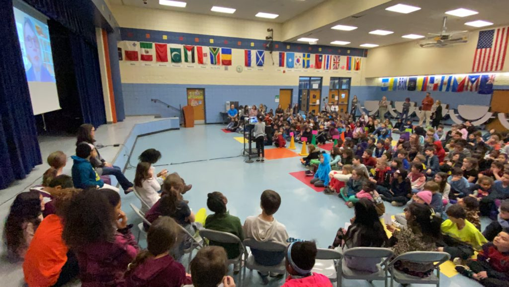 Pattengill students Skype with author