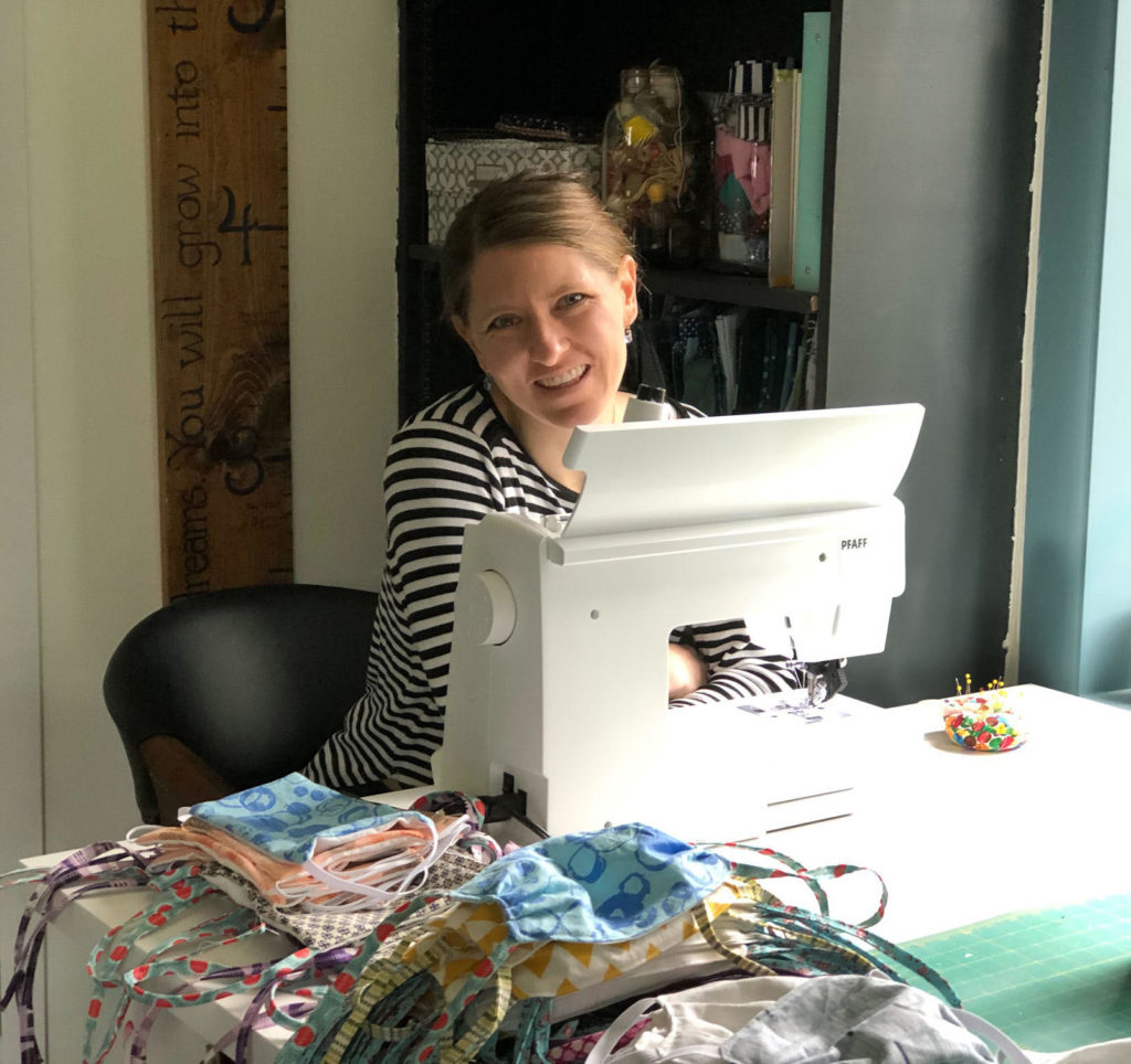 Allen art teacher Sarah Conner will have sewn 150 masks to donate to medical personnel by the end of the week.