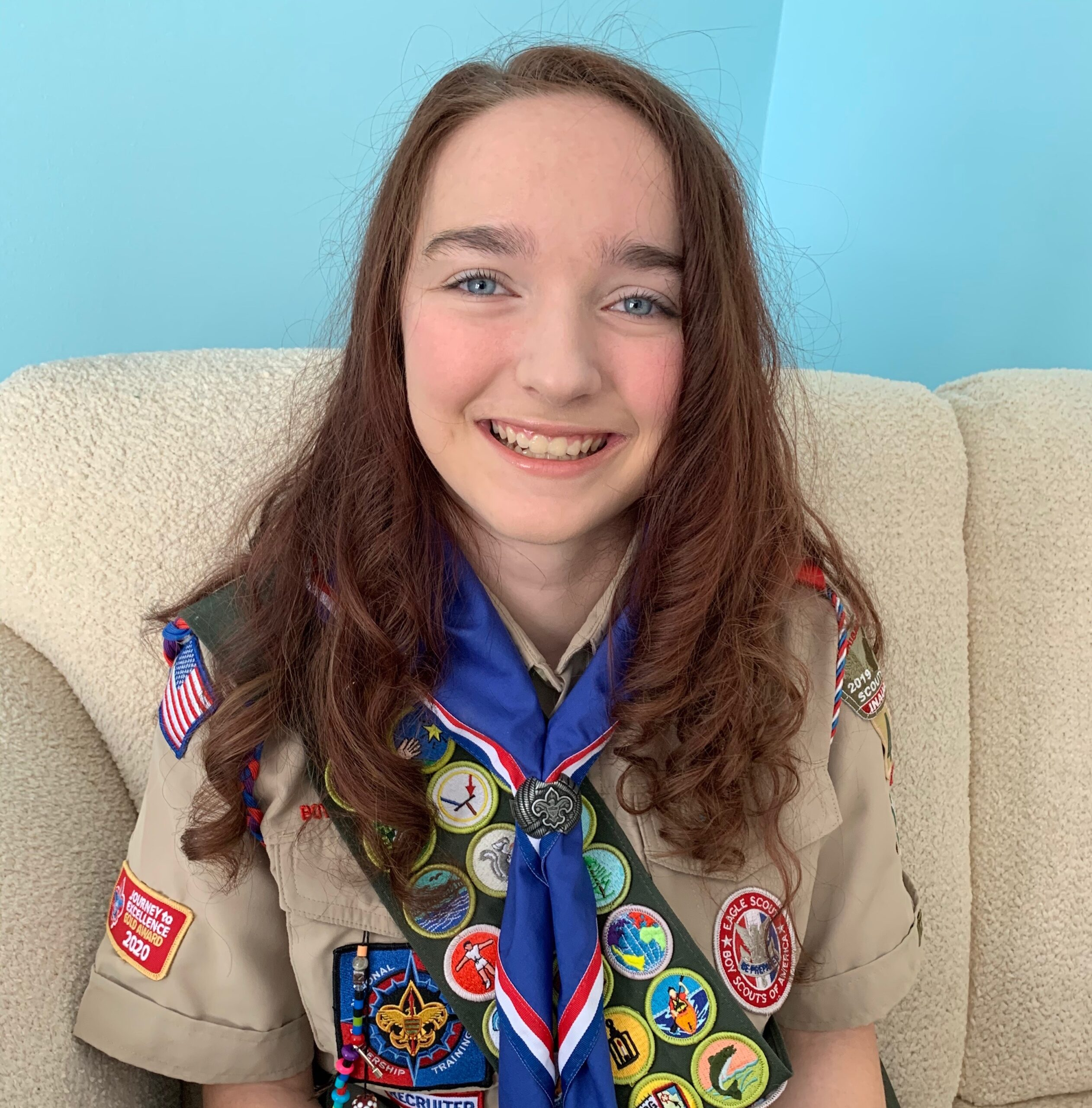 Gabby is an Eagle Scout.